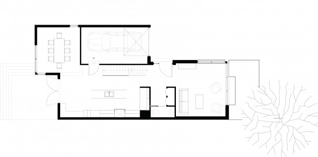 First floor floor plan of the small modern home
