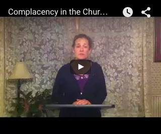My Sermon Sample - Complacency in the Church