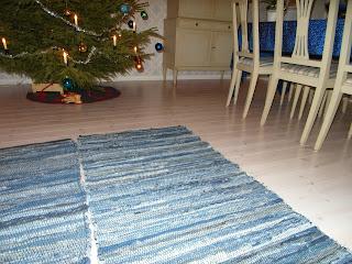 Matttor från rusta, mattor i blått