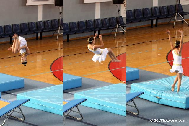 Rhythmic Acrobatic Gymnastics - single turn jump seq
