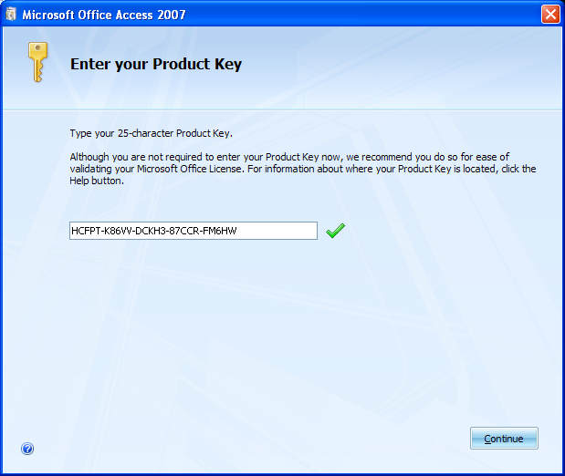 MS Professional Office 2007 Working Serial Product Key