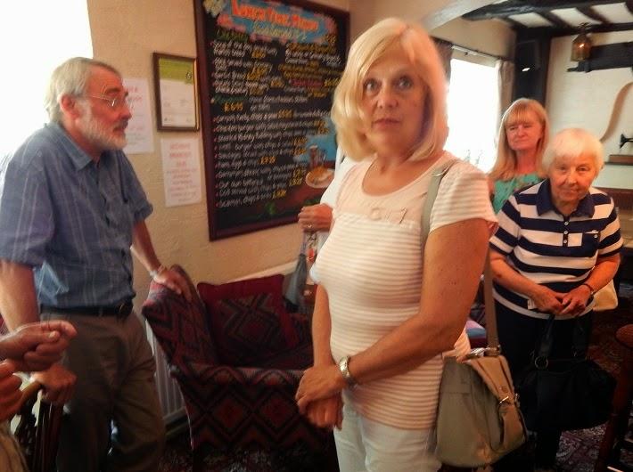 Peter Westcott, Sally Griffiths, Pam Hammond and June Blitz