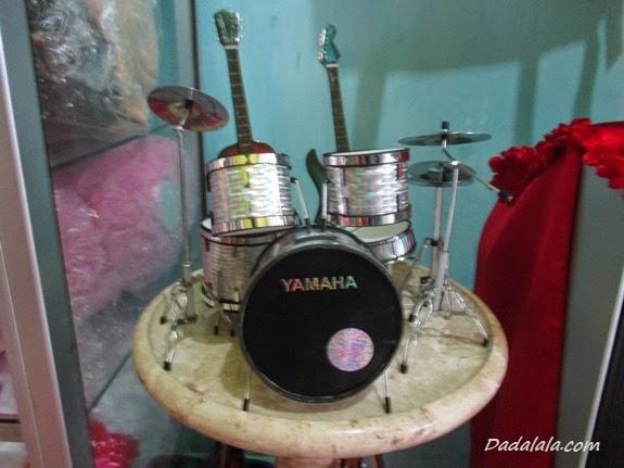 Jual Miniatur Drum Yamaha Silver Polos