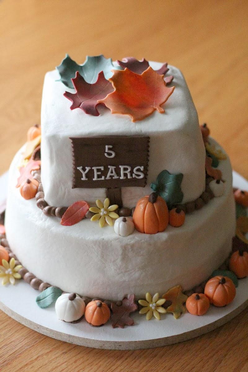 5 year anniversary cake ideas