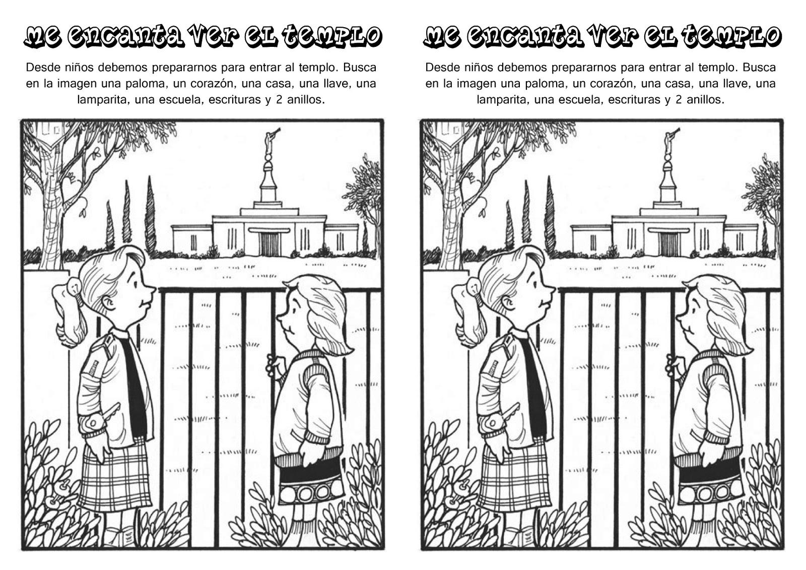 Hojas de Actividades sobre el Templo | Conexión SUD