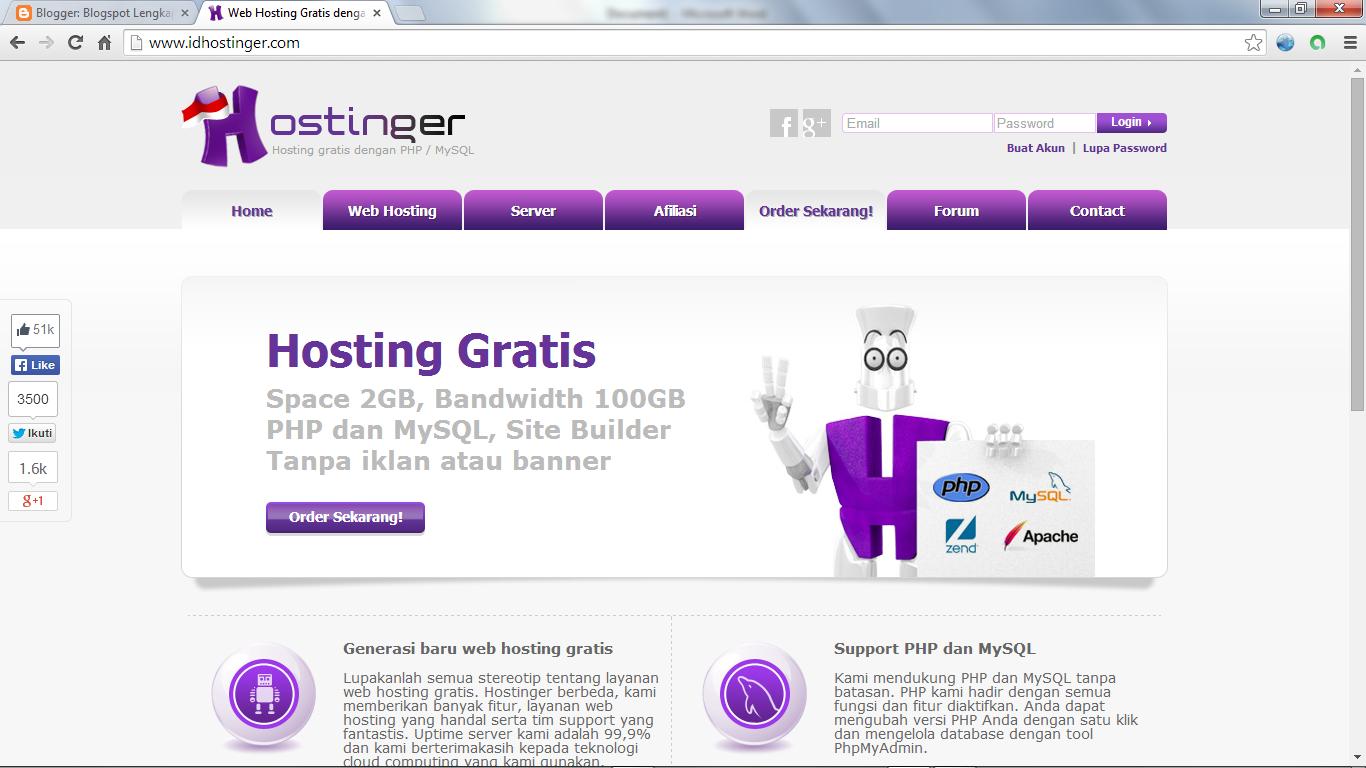 Cara Mendaftar Di Free Hosting Dan Free Domain Indonesia