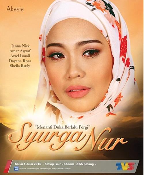Sinopsis drama Syurga Nur Slot Akasia TV3, pelakon dan gambar drama Syurga Nur, review drama Syurga Nur TV3