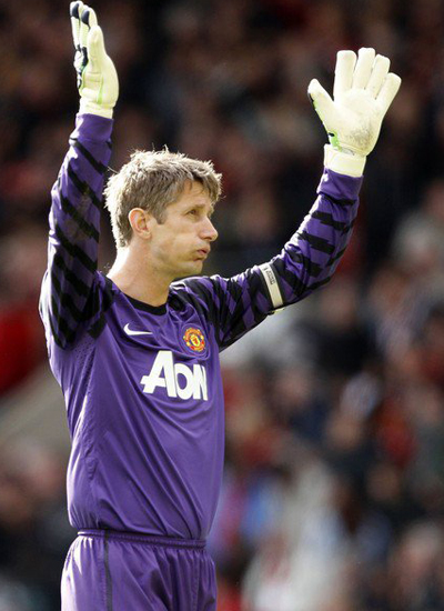 Van der Sar Man Utd vs Blackpool Barclays Premier League