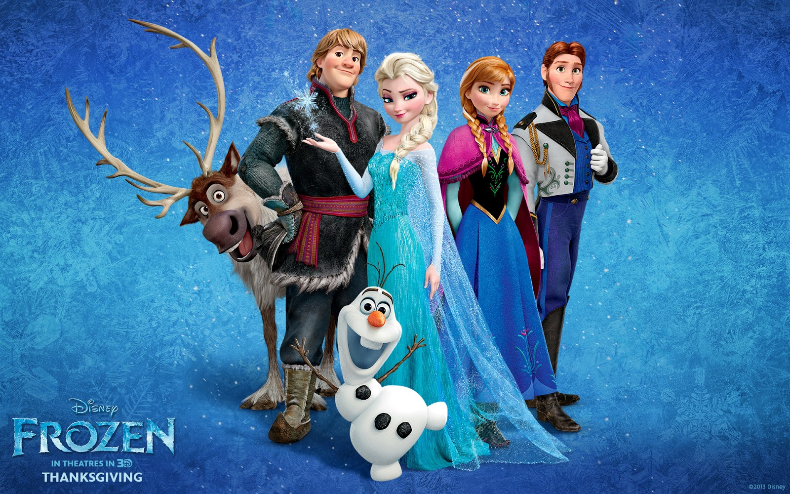 The main characters of Frozen.