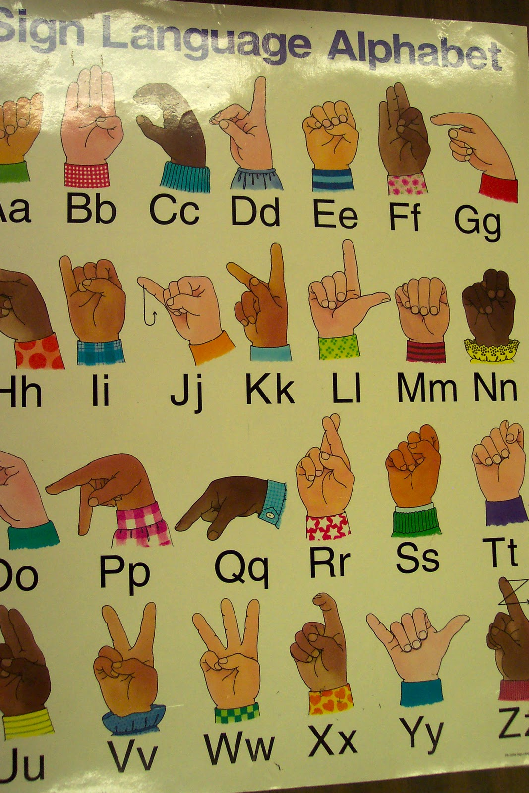 Sign language word for essay