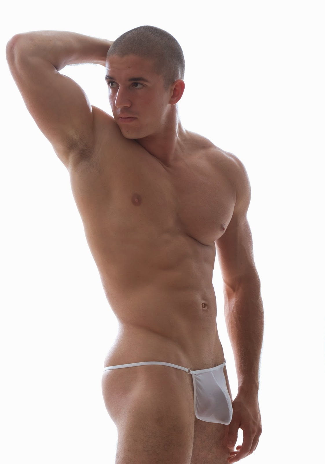GBGB Wear G-String Underwear White Front