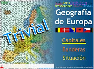 TRIVIAL EUROPA: CAPITALES, BANDERAS Y SITUACIÓN.