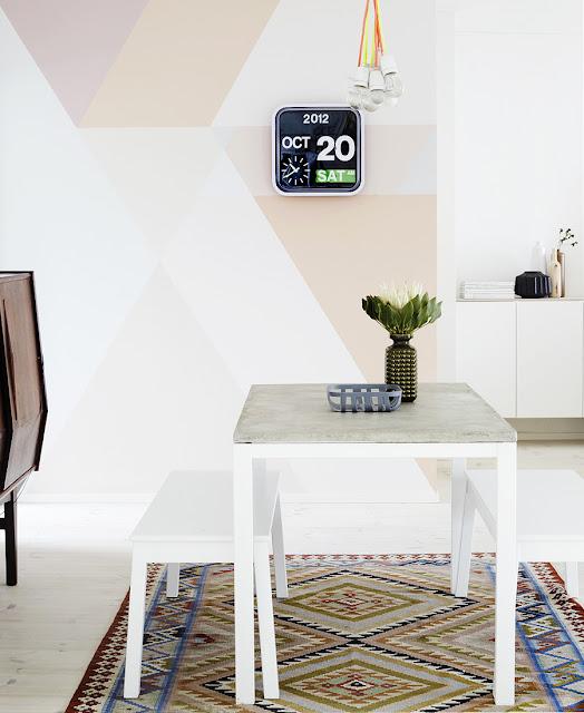DIY - un mur et une table
