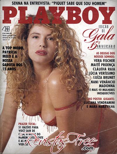 Patricia Melo - Revista Playboy - Agosto 1990