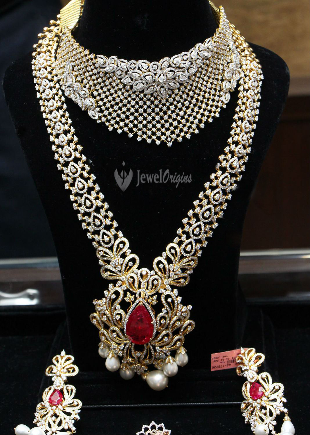 gold fancy jewellery jewelry designs indian and diamond necklace bridal