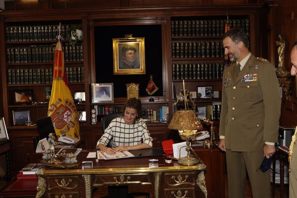 King Felipe of Spain made a visit to Royal Guard headquarters