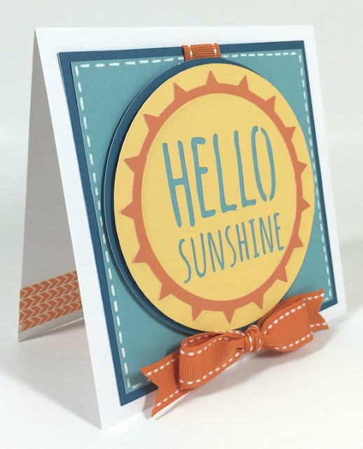 Cricut Hello Sunshine card