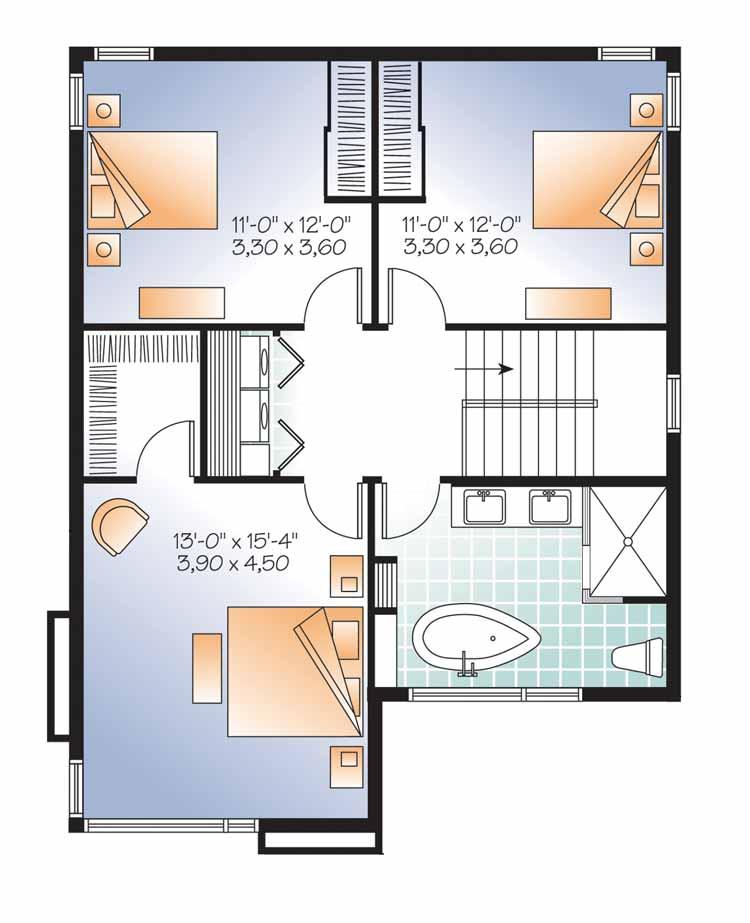Plano de casa estilo contemporaneo de 170 metros cuadrados - Piso de 60 metros cuadrados ...