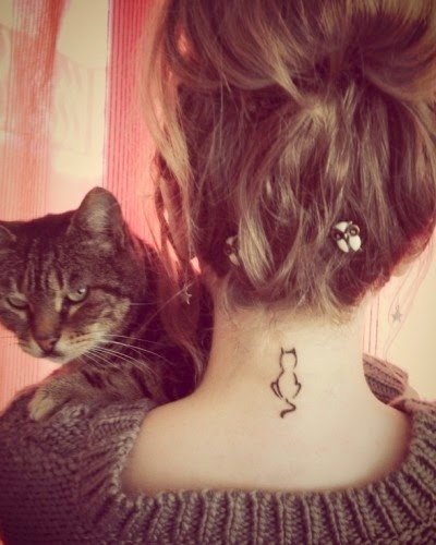 ♥ ♫ ♥ cat tattoo | Tattoo Ideas Central I really dig the size and placement  ♥ ♫ ♥