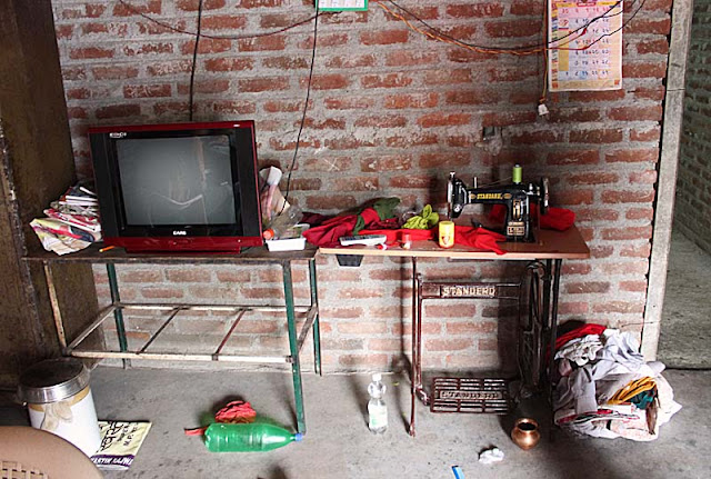 consumer goods in a rural home in India