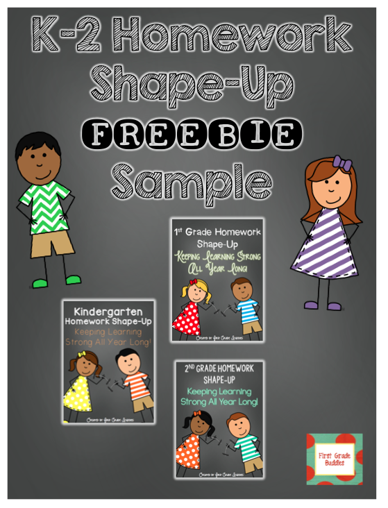 http://www.teacherspayteachers.com/Product/Kindergarten-1st-Grade-2nd-Grade-Weekly-Homework-Sample-1309120