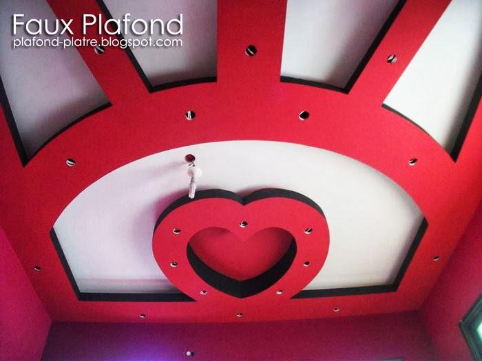 Faux plafond top modeles de faux plafond pour chambres for Faux plafond chambre enfant