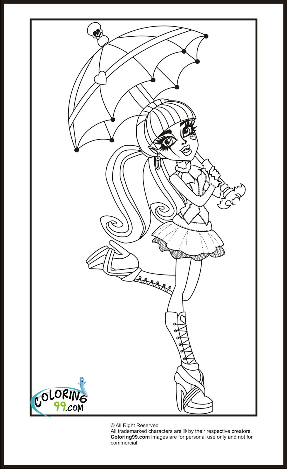 Unique Comics Animation: ultimate monster high coloring pages