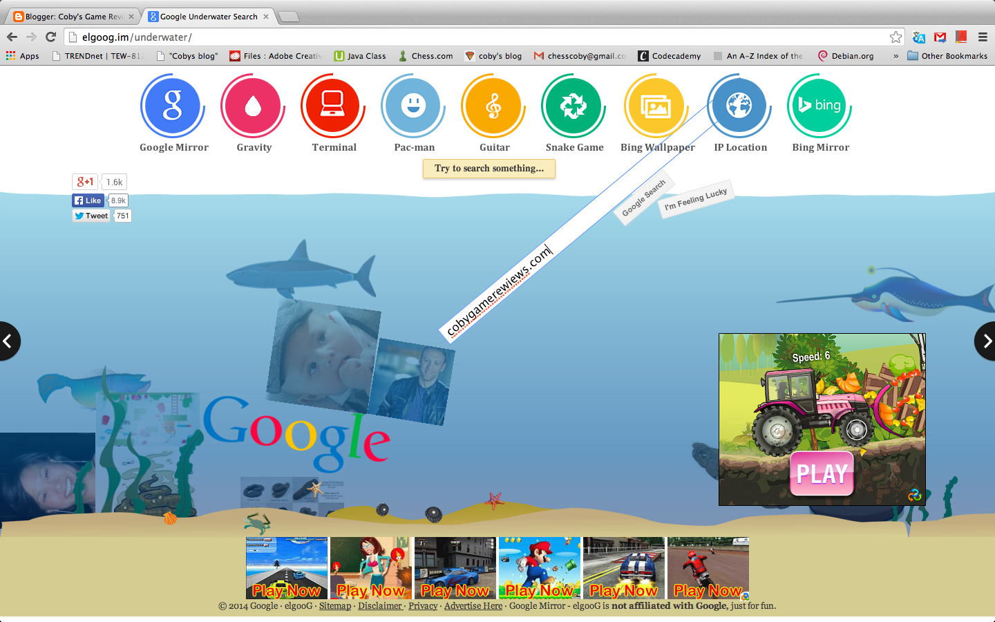 Google underwater mr doob - Google Under Water Where You Can Search Things Under Water And It Shows Images Http Elgoog Im Underwater