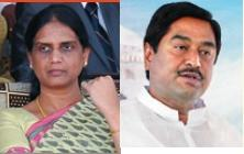 Home Minister Sabita Indra Reddy and Roads and Buildings Minister Dharmana Prasada Rao
