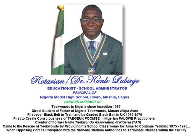 PIONEERS OF NIGERIA TAEKWONDO