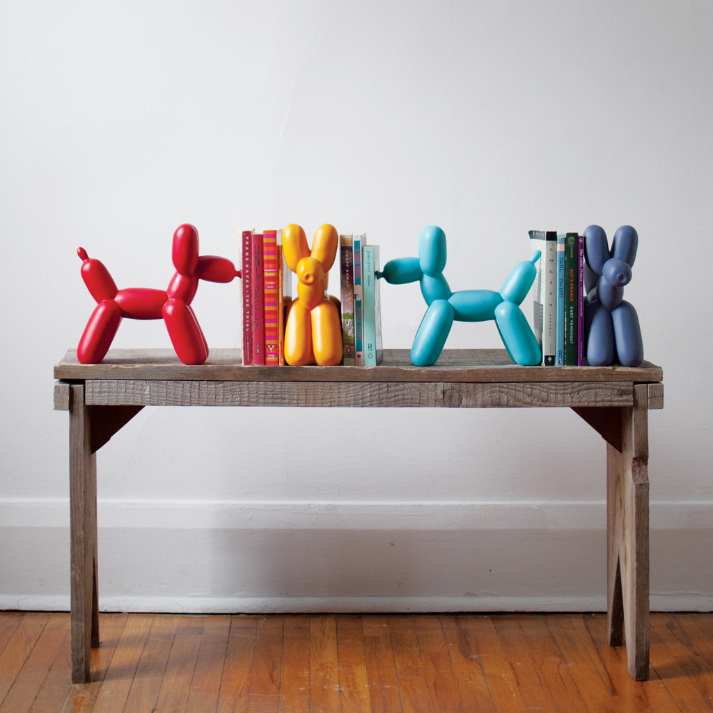 balloon dog bookends christmas gift