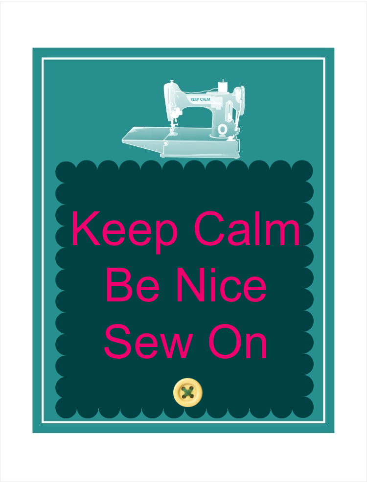 keep calm sewing