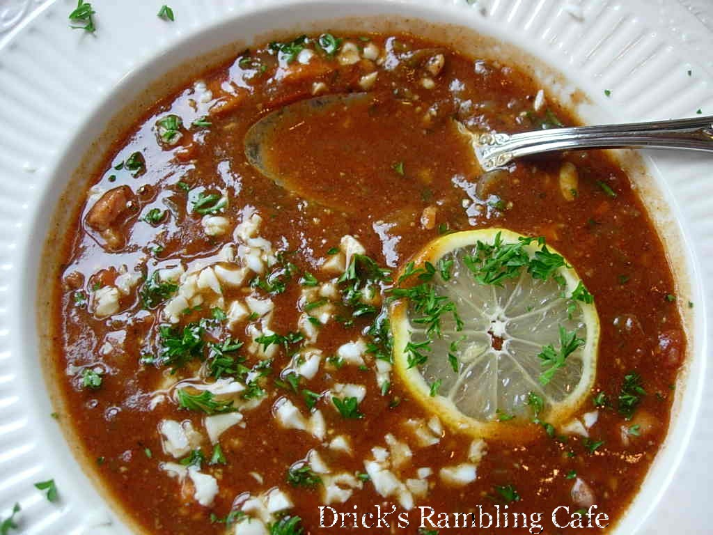 Classic Creole Turtle Soup ~ Drick's Rambling Cafe