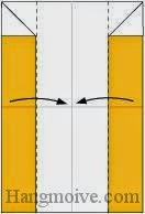Bước 4: Gấp hai cạnh giấy vào trong.