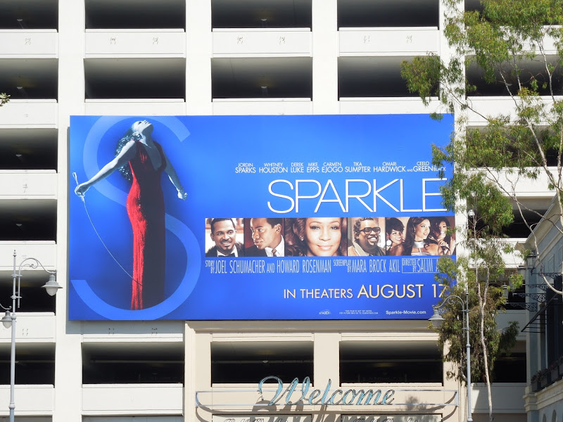 Sparkle movie billboard The Grove