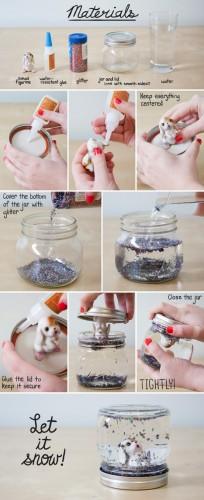 Reciclatex Cómo hacer una bola de nieve con un bote de cristal