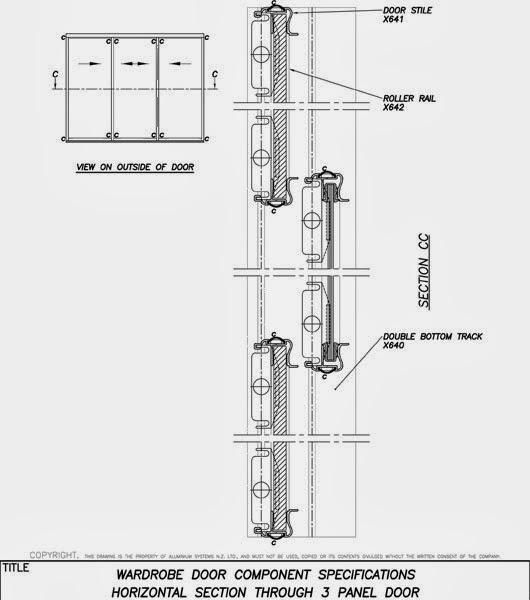 Portes coulissantes pour armoires encastr s placards for Bloc autocad fenetre