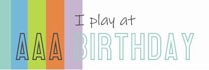 AAA Birthday