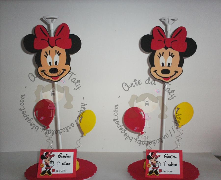 Centro De Mesa  Aniversario Minnie E Mickey