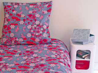 Kingyo Girl's Bedding. Shown in close