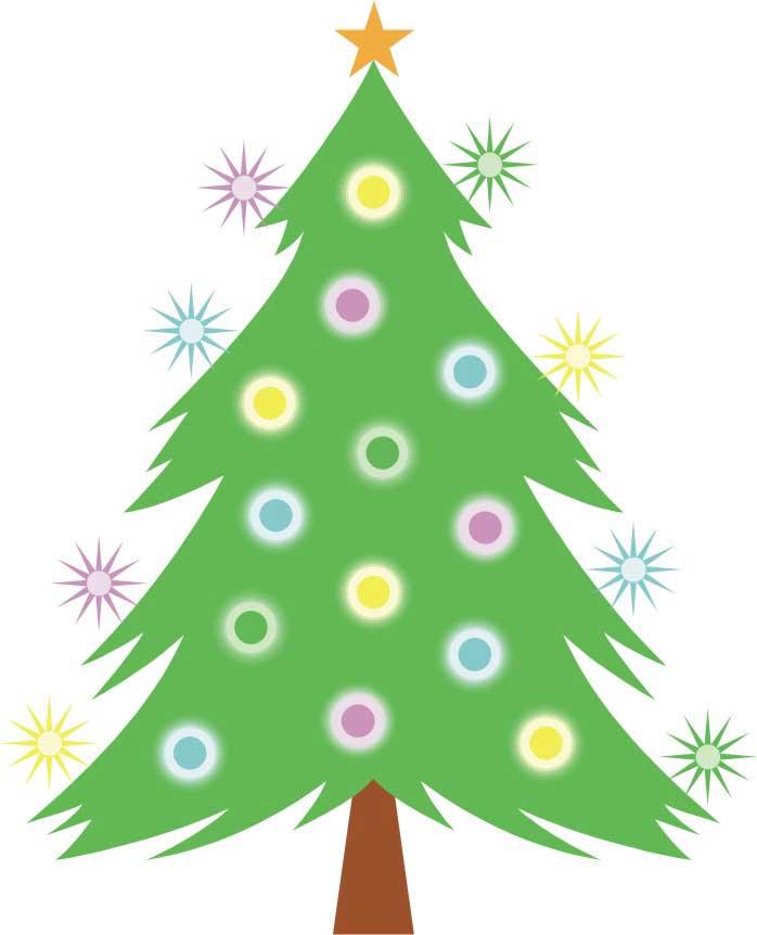 Dibujo de un Arbol de Navidad para niños