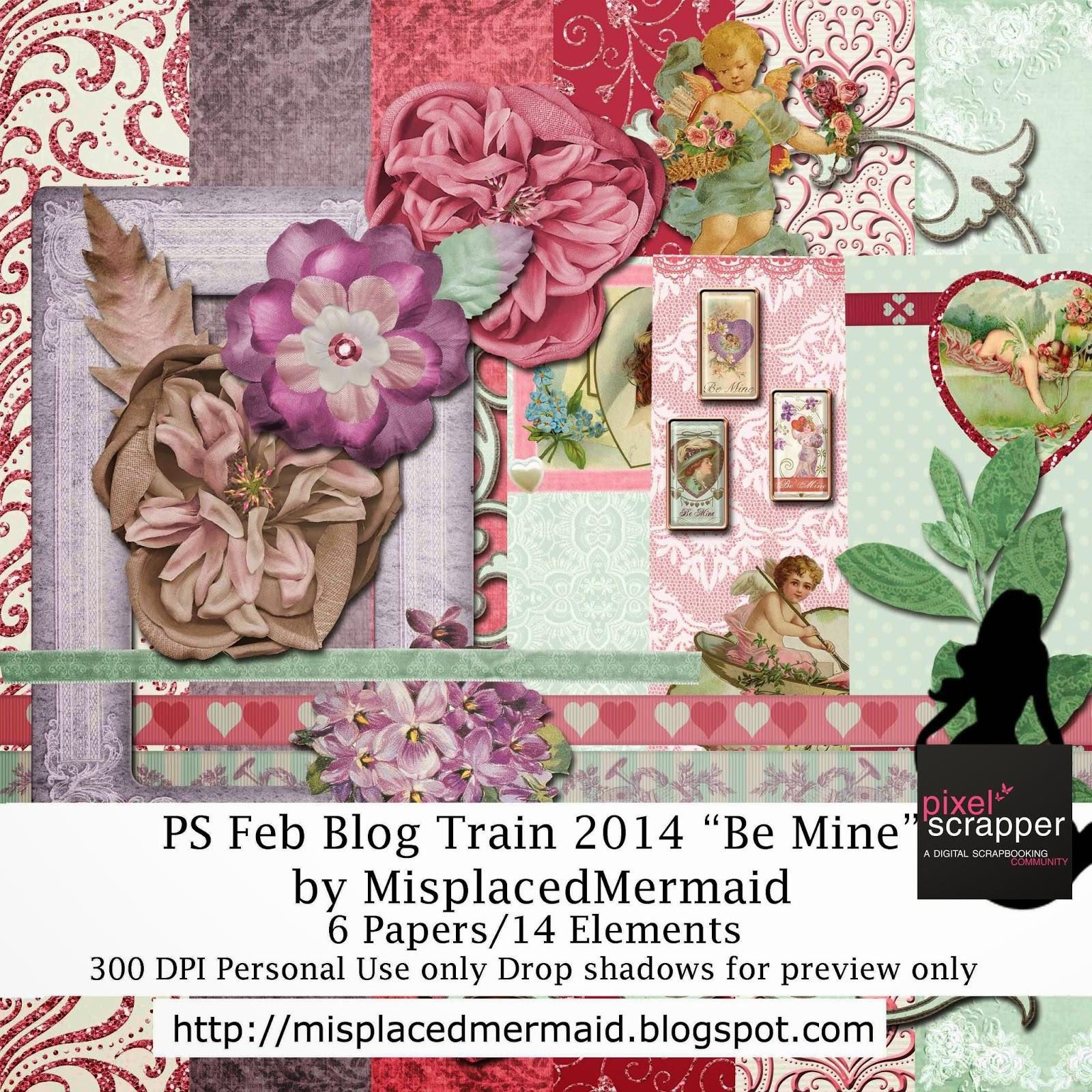 Be Mine-Pixel Scrapper Feb. 2014 Blog Train