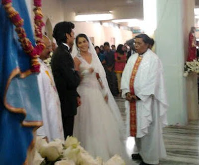 riteish deshmukh and genelia dsouza's christian church wedding photos at st annes church