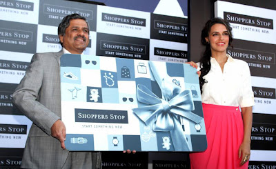 neha dhupia at shoppers stop gift card launch hot photoshoot