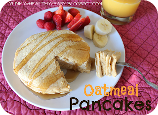 Skinny Oatmeal Pancakes