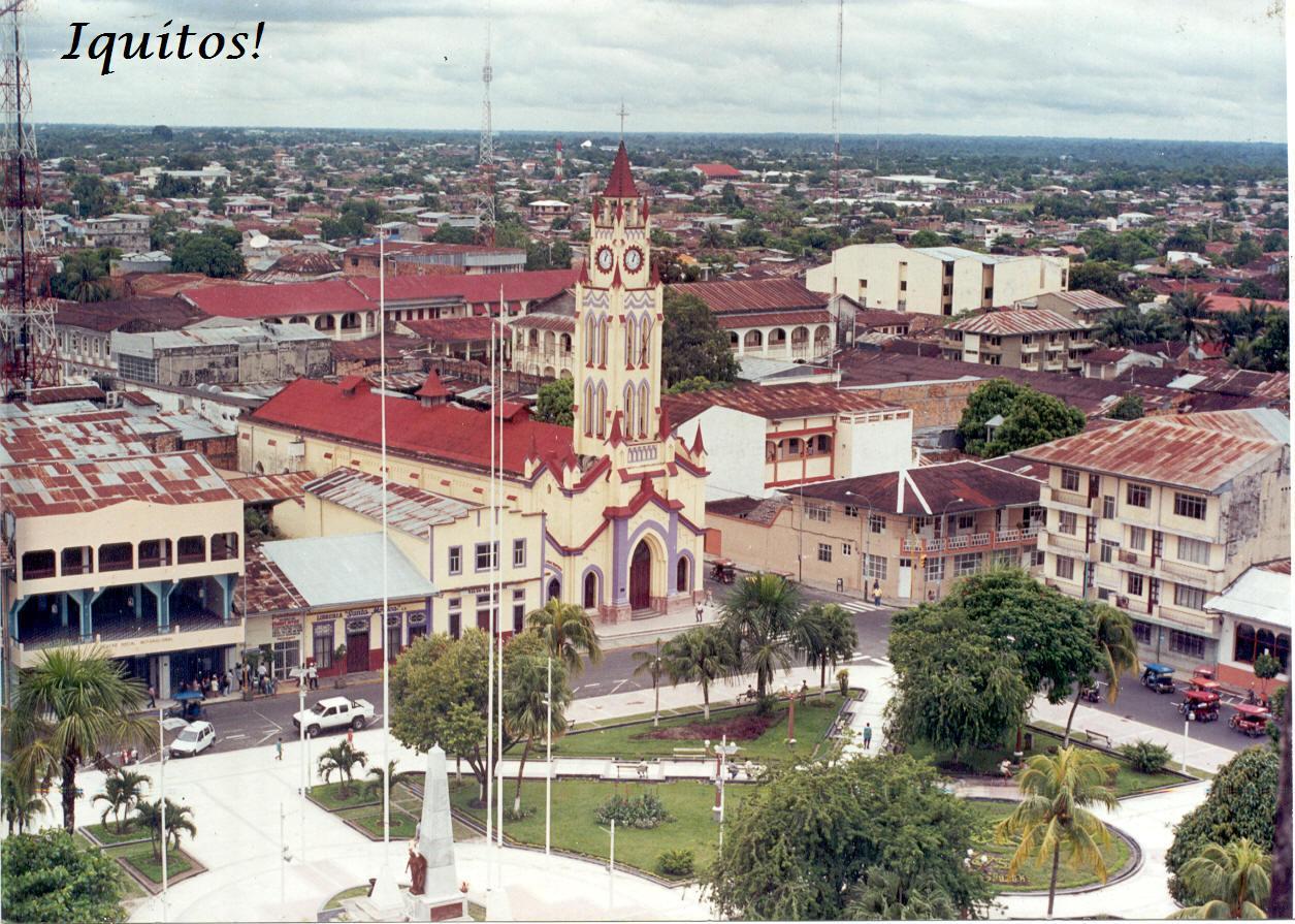 Iquitos Peru  city photos : ... de altura de la ciudad de iquitos con sus parques y lleno de arboles