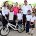 Encabeza la Presidenta del Sistema DIF Río Bravo Sra. Zulema Canales de Villaseñor, la entrega de más de 90 bicicletas a niños y jóvenes de escuelas rurales.