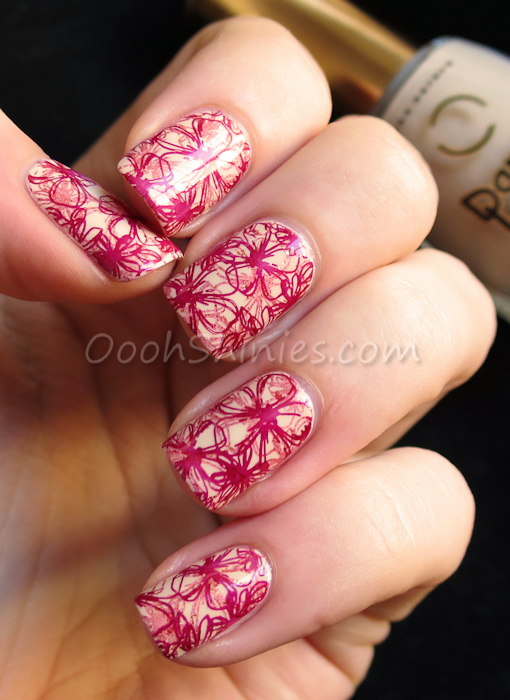 Dance Legend #1031 with A England Gloriana, China Glaze Red-y & Willing and BornPrettyStore BP-L015
