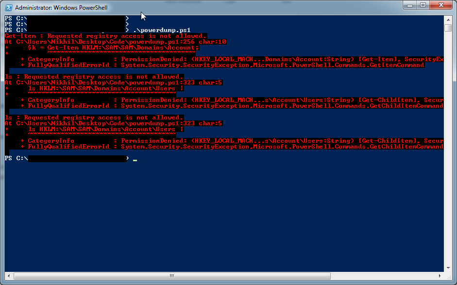 get windows password hash