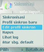 Edit profil sinkron